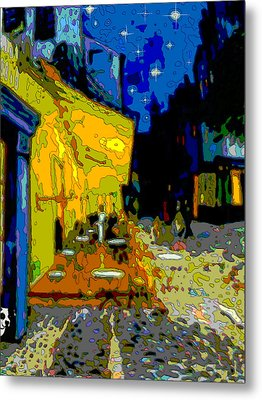 Metal Print featuring the painting Cafe Vincent by Jann Paxton