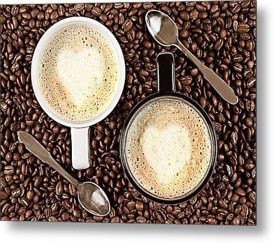 Metal Print featuring the photograph Caffe Latte For Two by Gert Lavsen