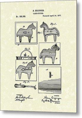 Cake Cutter 1877 Patent Art Metal Print by Prior Art Design