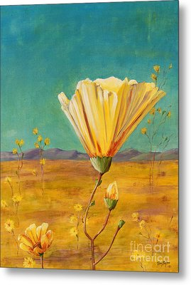 Metal Print featuring the painting California Desert Closeup by Terry Taylor