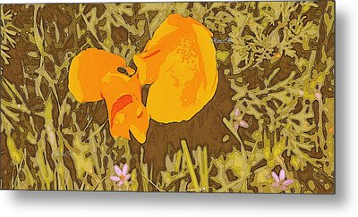 Metal Print featuring the photograph California Poppy by Rima Biswas