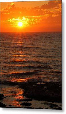 Metal Print featuring the photograph California Sunset by Coby Cooper