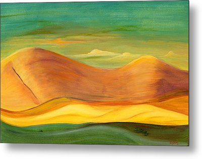 Metal Print featuring the painting California Sunset by Terry Taylor