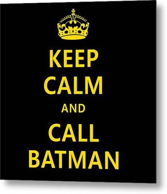 Call Batman Metal Print by Elizabeth Coats