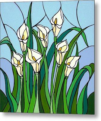 Calla Lilies Metal Print by JW DeBrock