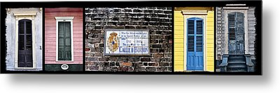 Calle D Borbon Metal Print by Bill Cannon