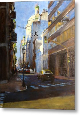 Calle Defensa Metal Print