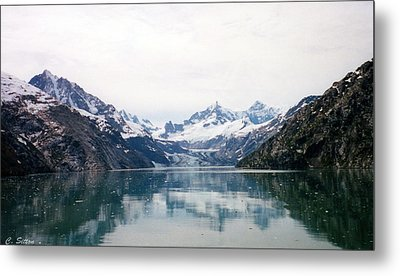 Calm Glacier Bay Metal Print by C Sitton