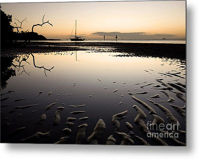 Calm Harbor At Dusk Metal Print by Matt Tilghman