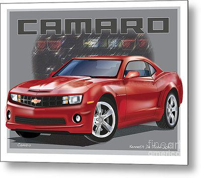 Camaro Metal Print by Kenneth De Tore