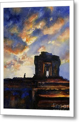 Cambodian Sunset Metal Print by Ryan Fox