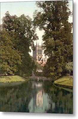 Cambridge - England - St. Johns College Chapel From The River Metal Print by International  Images