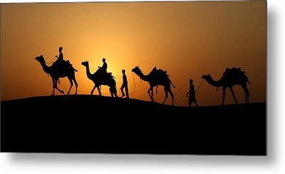 Camel Men Metal Print