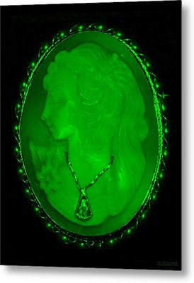 Cameo In Green Metal Print by Rob Hans