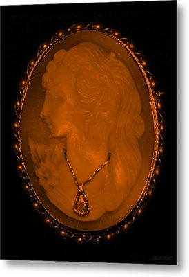 Cameo In Orange Metal Print by Rob Hans