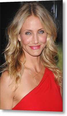 Cameron Diaz At Arrivals For The Green Metal Print by Everett