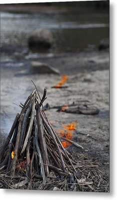 Metal Print featuring the photograph Camp Fire by Carole Hinding