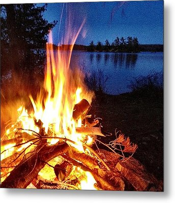 Campfire Metal Print by Christopher Campbell