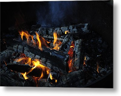 Metal Print featuring the photograph Campfire by Fran Riley