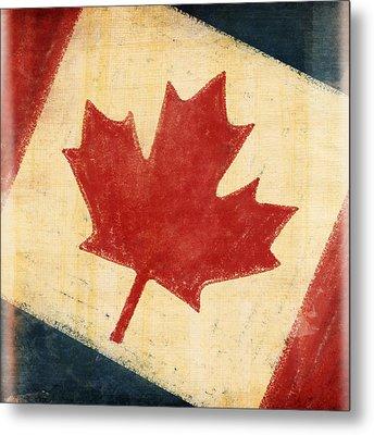 Canada Flag Metal Print by Setsiri Silapasuwanchai