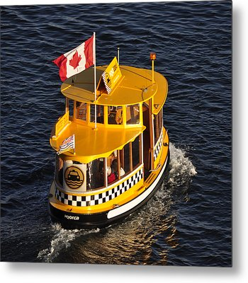 Canadian Water Taxi Metal Print by MaryJane Armstrong