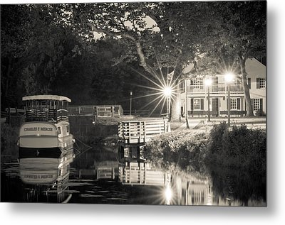 Canal Boat Metal Print by Scott Faunce