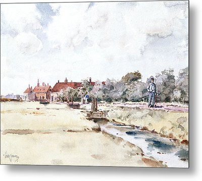 Canal Scene Metal Print by Childe Hassam