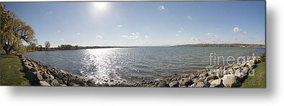 Metal Print featuring the photograph Canandaigua Lake Panorama by William Norton