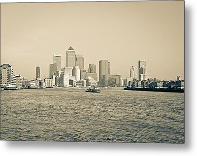 Metal Print featuring the photograph Canary Wharf Cityscape by Lenny Carter