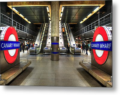 Canary Wharf Station Metal Print by Svetlana Sewell