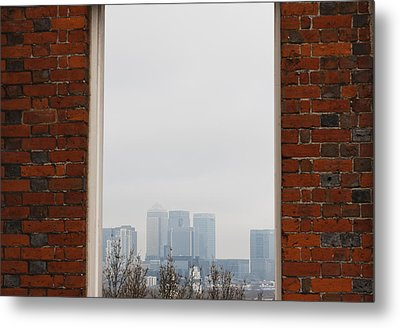 Metal Print featuring the photograph Canary Wharf View by Maj Seda