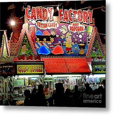 Metal Print featuring the photograph Candy Factory by Renee Trenholm