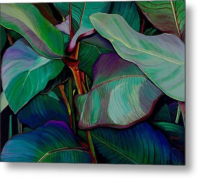 Cannas II Up-close And Personal Metal Print by Susan  Brasch