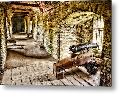 Cannons Of Dover Metal Print by Wendy White