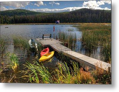 Canoe Canada Metal Print by Peter Olsen