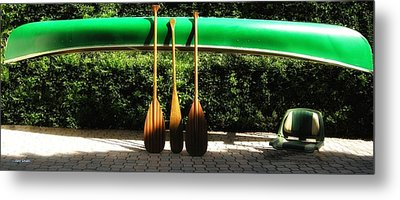 Metal Print featuring the photograph Canoe To Nowhere by Alec Drake