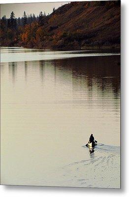 Canoe Tracks Metal Print by Andrea Arnold