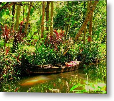 Canoe Metal Print by Vinod Nair