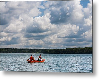 Canoeing In Riding Mountain National Park Metal Print by Matt Dobson