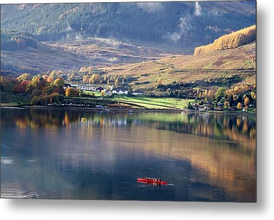 Metal Print featuring the photograph Canoeing On Loch Goil by Lynn Bolt