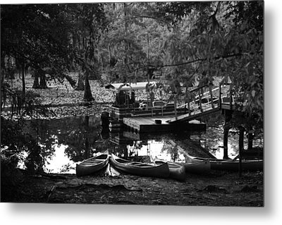 Canoes For Rent Metal Print by Snow  White