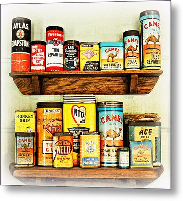 Cans Of Old Metal Print by Marty Koch
