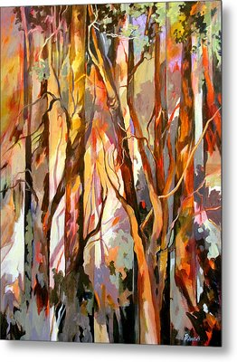 Metal Print featuring the painting Cant See The Forest For The Trees by Rae Andrews