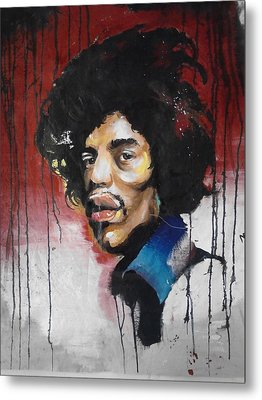 Canvas Jimi Metal Print by Matt Burke