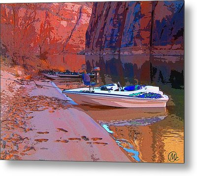 Canyon Boating Metal Print by Mary M Collins