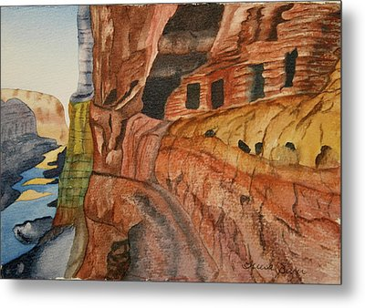 Metal Print featuring the painting Canyon De Chilly by Teresa Beyer