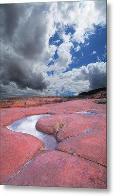 Canyon Pools Metal Print by Ric Soulen