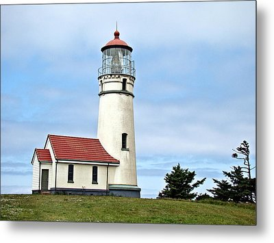 Metal Print featuring the photograph Cape Blanco Lighthouse by Nick Kloepping