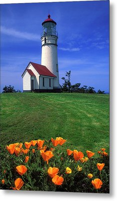 Cape Blanco Lighthouse Oregon Metal Print by Dave Mills