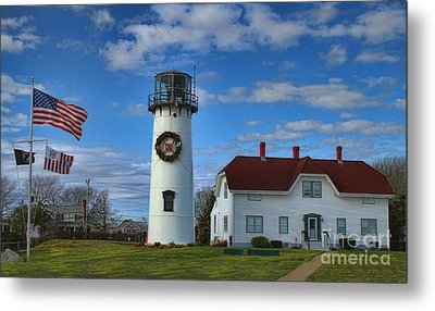 Metal Print featuring the photograph Cape Cod Chatham Lighthouse by Gina Cormier